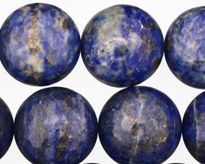 Lapis Faceted Round 18mm