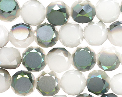 Iris Opaque Crystal Faceted Table Cut Coin 10mm