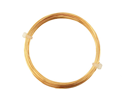 German Style Wire Gold Color Round 26 gauge, 20 meters