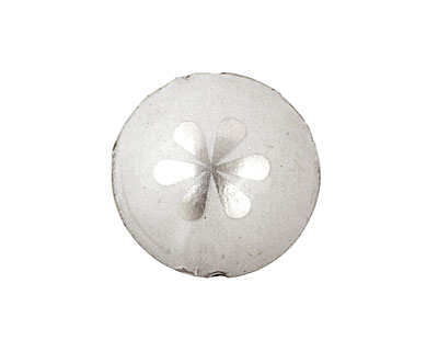 Trinket Foundry Silver Daisy Bottle Cap Puff Coin 22mm