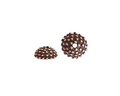 Nunn Design Antique Copper (plated) Urchin Bead Cap 5x12mm