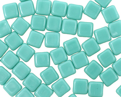 Czech Glass Turquoise Square 6mm