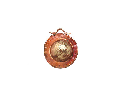 Patricia Healey Copper Galaxy Dome Pendant 26x30mm