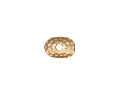 TierraCast Gold (plated) Large Hole Hammered Pendant Cap 4x11mm