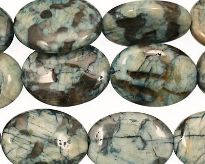 Mystic Blue Feldspath Flat Oval 20x15mm