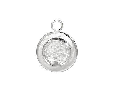 Silver (plated) Lipped Circle Bezel 18mm