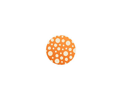 Lillypilly Orange Scattered Dots Anodized Aluminum Disc 11mm, 24 gauge