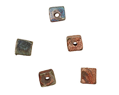 XAZ Raku Stan's Rust Cube 6-8x6-7mm