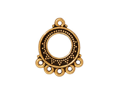 TierraCast Antique Gold (plated) Bali Chandelier 18x22mm