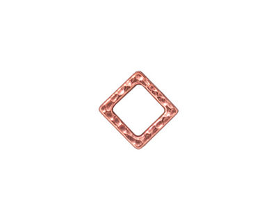TierraCast Antique Copper (plated) Small Hammered Square Link 10mm