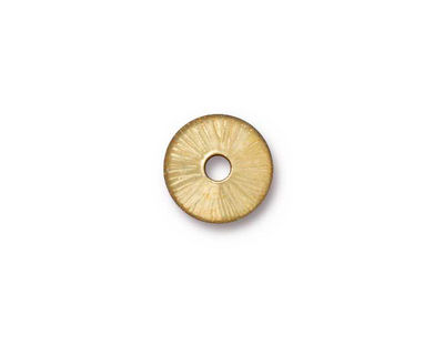 TierraCast Gold (plated) Large Hole Radiant Bead Cap 3x11mm