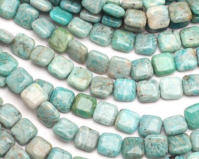 Brazil Amazonite Puff Square 10mm