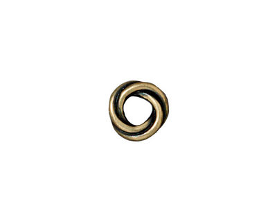 TierraCast Antique Brass (plated) Twisted Spacer 2x10mm