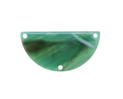 Zola Elements Turquoise Bullhorn Acetate Half Circle Y-Connector 30x15mm