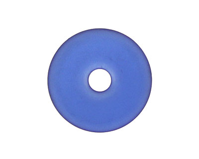 Royal Blue Recycled Glass Donut 24mm