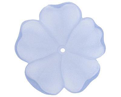 Matte Sapphire Lucite 5 Petal Flower 10x36mm
