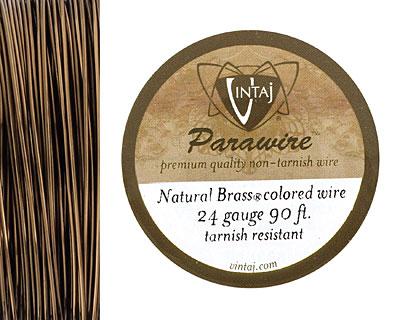 Vintaj Natural Brass Parawire 24 gauge, 90 feet