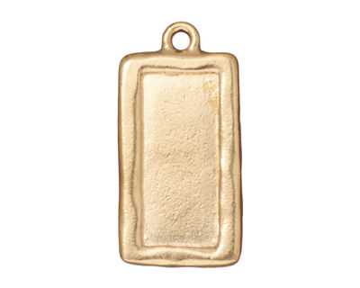 TierraCast Gold (plated) Rectangle Frame Drop 15x31mm