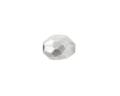 Nunn Design Antique Silver (plated) Faceted Barrel 12x9mm