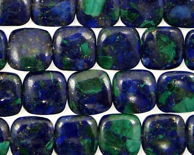 Azurite Malachite Puff Square 10mm