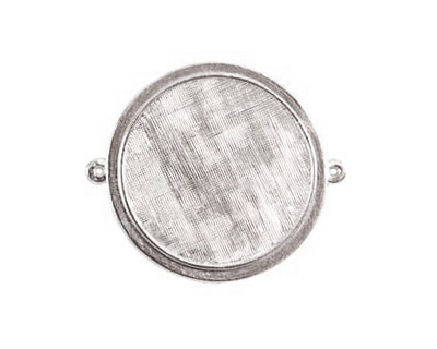Nunn Design Sterling Silver (plated) Raised Bezel Large Circle Link 44x38mm