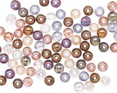 Czech Glass Luster Mix Round 4mm