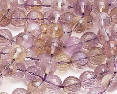 Ametrine Faceted Round 9-10mm
