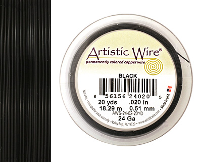 Artistic Wire Black 24 gauge, 20 yards