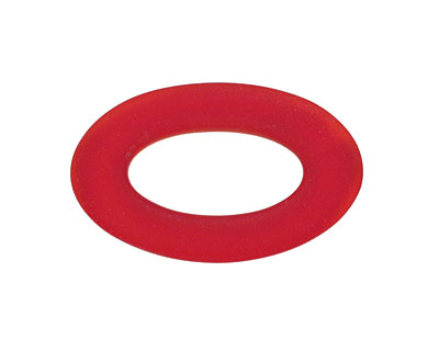 Cherry Red Recycled Glass Oval Ring 31x19mm
