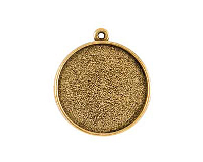 Nunn Design Antique Gold (plated) Grande Circle Bezel Pendant 38x34mm