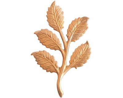 Nunn Design Brass Birch Leaves Embellishment 23x36mm