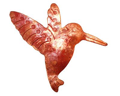 Patricia Healey Copper Hummingbird Pendant 38x46mm