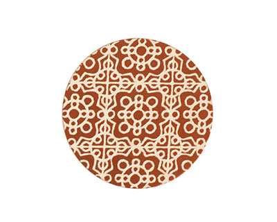 Lillypilly Bronze Baroque Anodized Aluminum Disc 25mm, 24 gauge