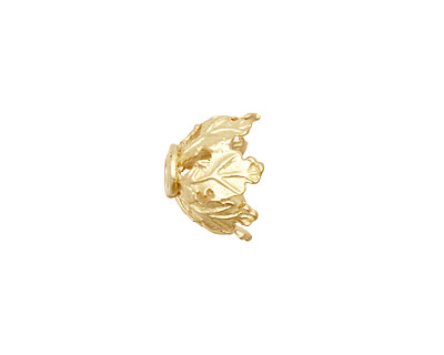 Ezel Findings Gold (plated) Leaf Bead Cap 8x13mm