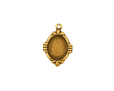 Stampt Antique Brass Deco Oval Setting 8x10mm