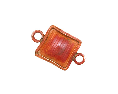 Patricia Healey Copper Solid Square Link 24x14mm
