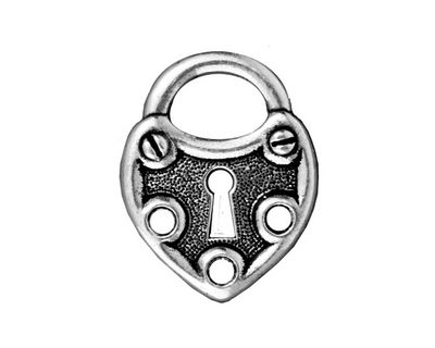 TierraCast Antique Silver (plated) Lock Link 19x25mm