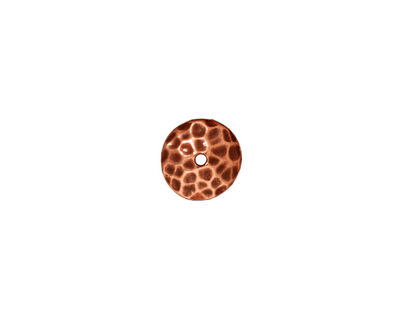 TierraCast Antique Copper (plated) Hammered Bead Cap 2x9mm
