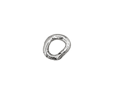 Rustic Charms Sterling Silver Thick Smooth O Ring 11x10mm