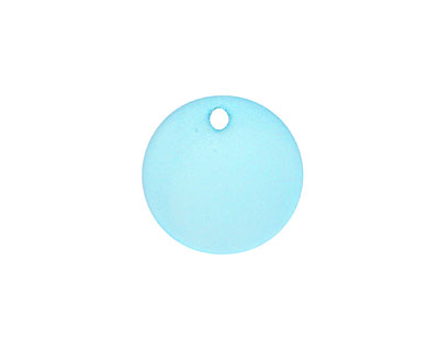 Turquoise Bay Recycled Glass Concave Coin 18mm
