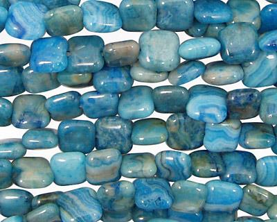 Larimar Blue Crazy Lace Puff Square 6mm