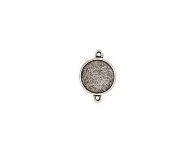 Nunn Design Antique Silver (plated) Mini Circle Frame Link 20x15mm