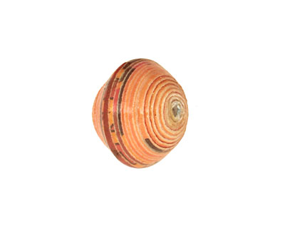 African Paper (orange, mocha) Bicone 14-15x16-17mm