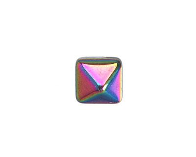 Czech Glass Crystal Vitrial 2-Hole Pyramid Stud Bead 12mm