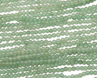 Green Aventurine Round 2mm
