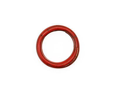 C-Koop Enameled Metal Medium Red Large Ring 16-17mm