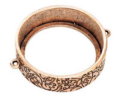 Nunn Design Antique Copper (plated) Grande Circle Open Bezel Link 42x35mm