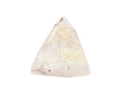 Druzy (metallic pearl) Faceted Freeform Drop 14-20x14-23mm