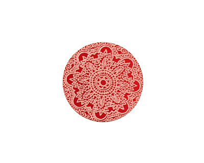 Lillypilly Red Lace Anodized Aluminum Disc 19mm, 24 gauge