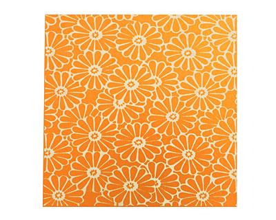 Lillypilly Orange Daisy Anodized Aluminum Sheet 3